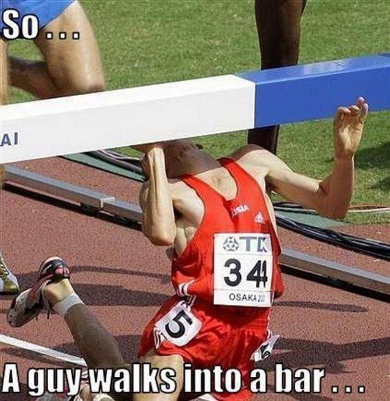 So a guy walks into a bar.... So a guy walks into a bar..... i have steeplechase tommorow.. thanks........... so a guy walks into Bar