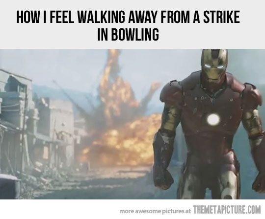 So True. . HEM I WALKING AWAY FEW A STRIKE iil. How Ferb feels iron man