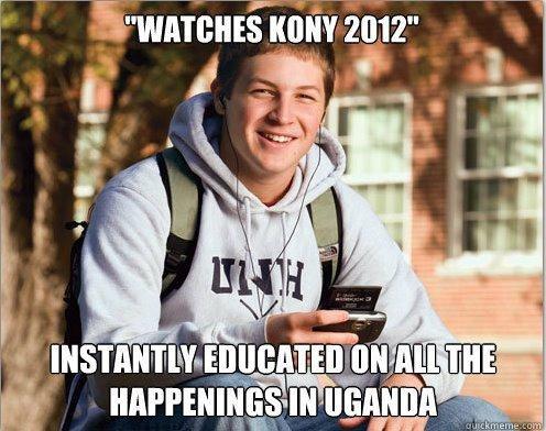 "So true. . 1! library HIE l( 2: 132"" Kony freshmen africa LRA"