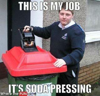 Soda pressing. . Soda pressing