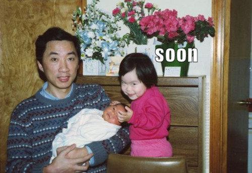 soon!. soon, soon!.. is that jackie chan???!!! soon Evil creepy baby stare photobomb
