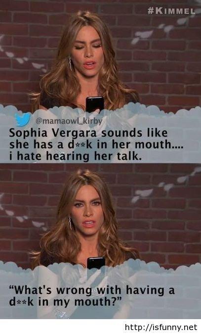 Sophia Vergara making my day so funny. Sophia Vergara making my day so funny isfunny.net/sophia-vergara-making-my-.... KIMMEL Sophia Var sounds like she has it  funny
