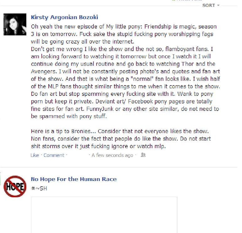 Sorry Bronies she has a good point. Very good point.. loll brony pony phony