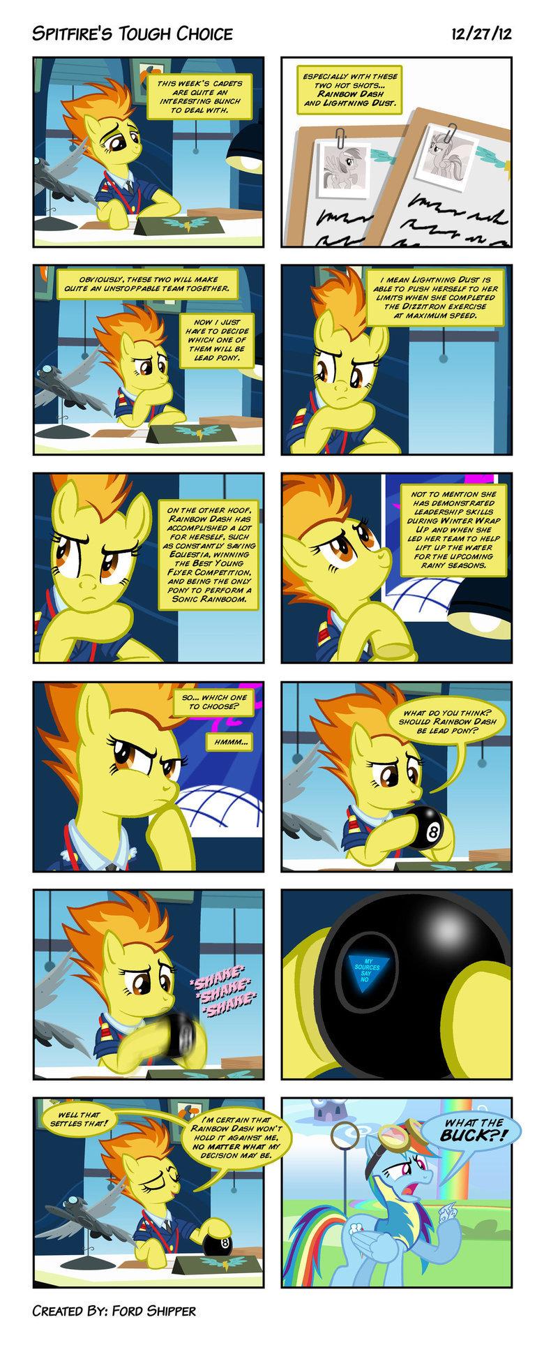 Spitfire's Tough Choice. mystic-forces.deviantart.com/art/Spit.... 5 TOUGH CHOICE / 27/ ESPER/ AMY WIT}! Y}/ ESE was WEEK' S was we pm Scareh.. Ra/ mow new re D ponies comic