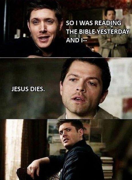 Spoiler Alert. . so I WAS READING JESUS DIES. Spoiler Alert so I WAS READING JESUS DIES