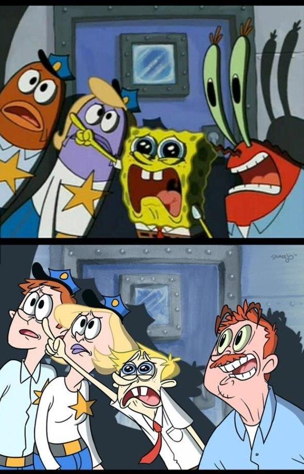spongebob as a human. .. that is... far less terrifying than i expected spongebob IRL