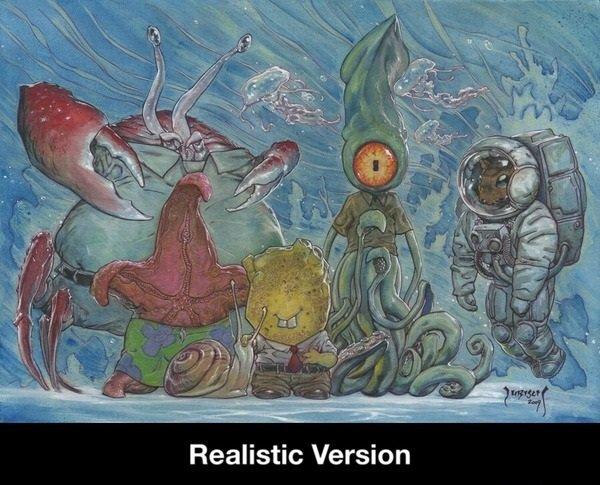 Spongebob IRL. . Realistic Version. stand corrected Spongebob IRL Realistic Version stand corrected