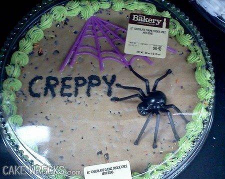 spooky. .. Such a de-creppy-fied cake. creepy