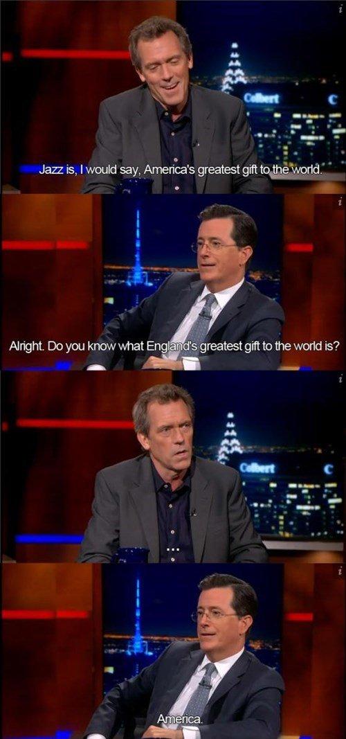 Stephen Colbert: A True Patriot. .. Iraq/Syria/Lybia/Vietnam/Iran would dissagree Stephen Colbert: A True Patriot Iraq/Syria/Lybia/Vietnam/Iran would dissagree