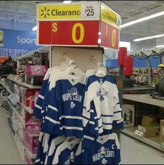 Still Not worth it. Leafs Suck!.. Better then an oilers jersey jersey NHL toronto maple leafs Walmart