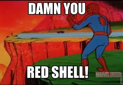 Still not worse than blue shell. . DAMN BED SHELL! Still not worse than blue shell DAMN BED SHELL!