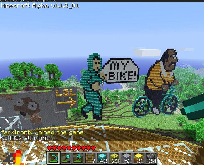 Stole My Bike. .. minecraft blows nuff said. Stole My Bike minecraft blows nuff said