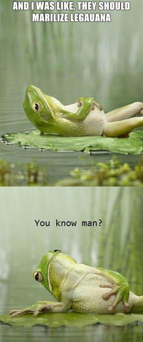 Stoned Frog. I roffled... Agreeing I am Stoned Frog I roffled Agreeing am