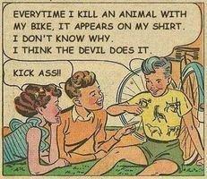 Strange stuff. . I HILL AN . warner aw arms, swans an MY war. devil animal bike Shirt