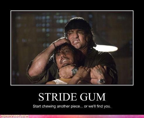 stride gum. . STRIDE GUN/ l Start another piece.. or we' ll tink you. LOLz! stride gum STRIDE GUN/ l Start another piece or we' ll tink you LOLz!