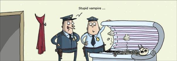 STUPID VAMPIRE. . lol Stupid Vampire Tan tanning