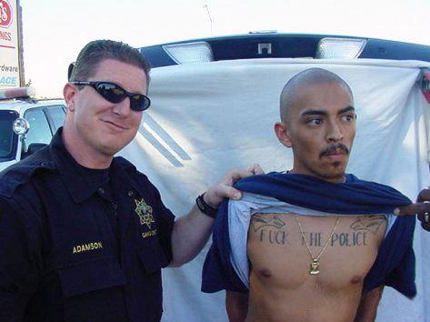 Stupid Mexicans. HAHAHAHA.. well i think he proved why he got the tattoo.... Stupid Mexicans HAHAHAHA well i think he proved why got the tattoo
