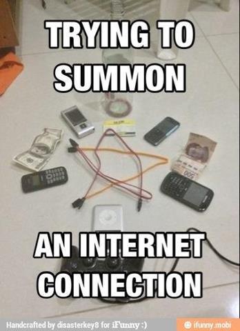 Summon Internet. .. This might help summoning it. funny wire Phone internet Satan