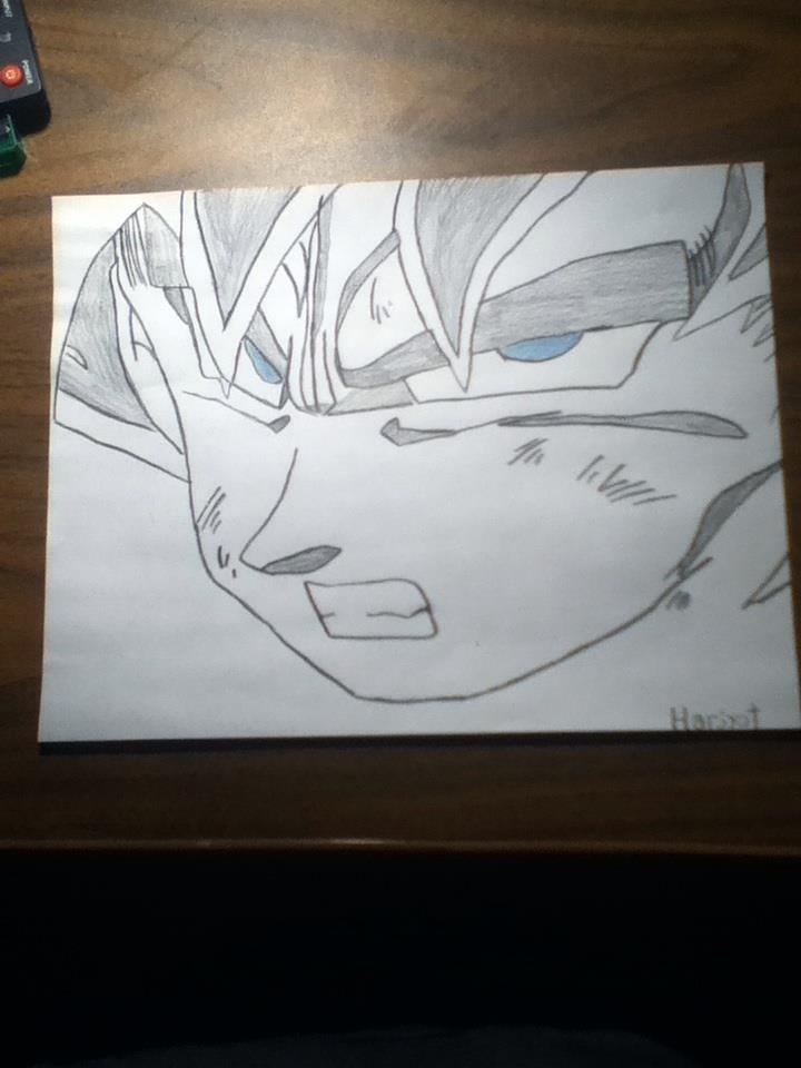 Super Saiyan Goku Drawing. inb4 flying goku head.. That's actually really impressive. Nice job! Goku