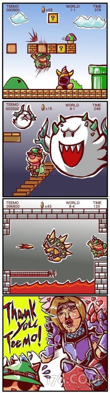 Super Teemo. . WORLD THE Teemo nocturne league of legends lol super Mario bros taric