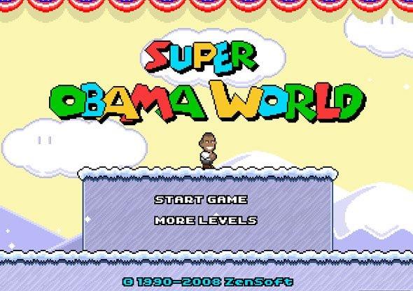 Super Obama World. Super Mario World Spoof... I think the game froze :l super obama worl