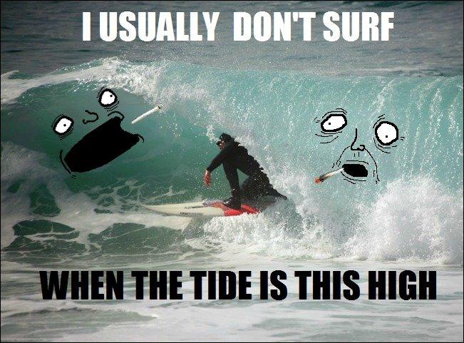 Surf's Up. . 515. im stoned weed surfing Stoner puns
