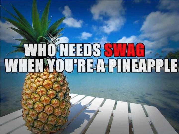 """swag fags. . an """" Atr Swag pineapple"""