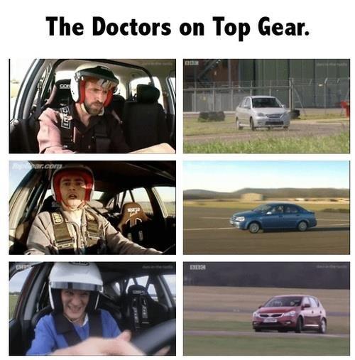 waiiitttt.... That's not a TARDIS!. . The Doctors on Top Gear. waiiitttt That's not a TARDIS! The Doctors on Top Gear