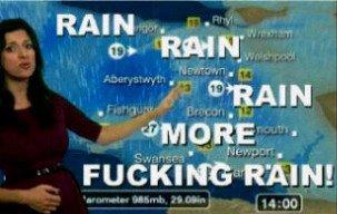 "Wales. . RAIN ""o was 100' l. WALE that wasn't unexpected OC Wales Rain britishsummer"