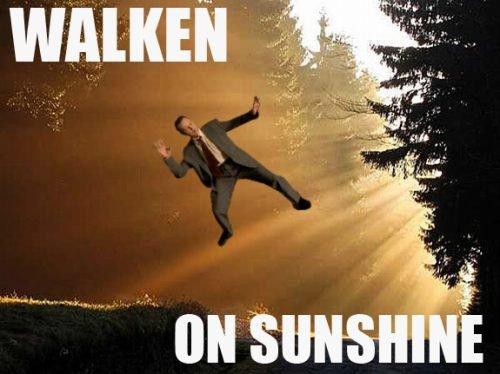 Walken on sunshine. . Walken on sunshine