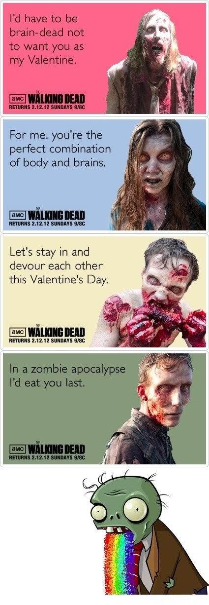 Walking Dead Valentines. pvz at the end. sirbonzaiatak