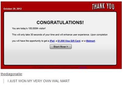 """Walmart. . CON GRAN tn ! rt Ill I JUST 'u"""".' CCH My VERY MART Walmart winner"""