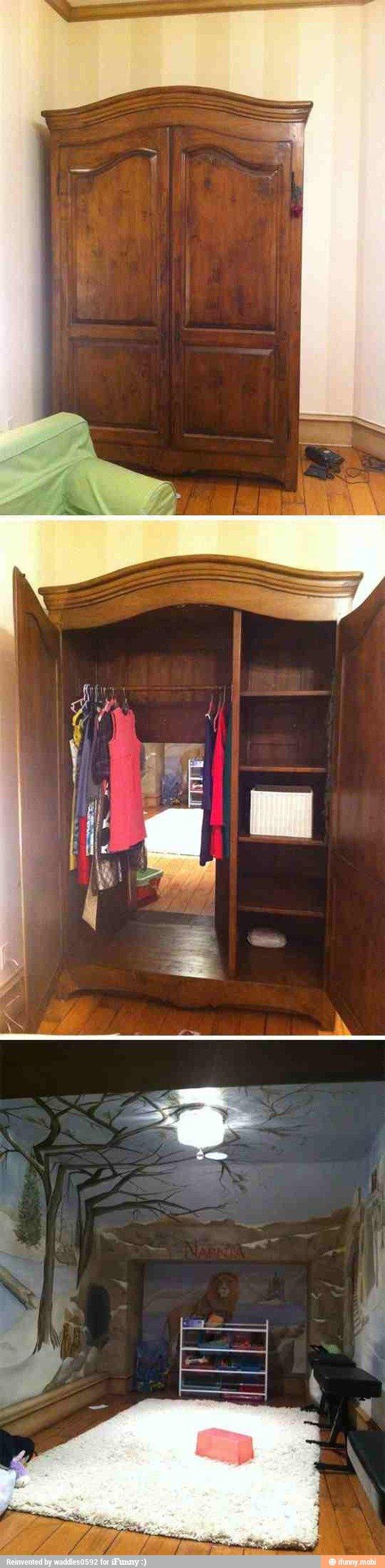 Want. . closet to Narnia