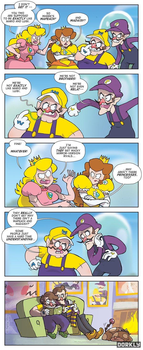 Waprincessessess. my favorite kind of comics. geddit? coz i'm op... credz to dorkly: www.dorkly.com/comic/49567/waprincesses.. That last frame is slightly adorable watags waggots
