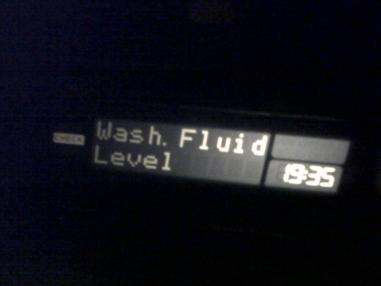 wash fluid level - 1935. my car did this last night.... funny dry level