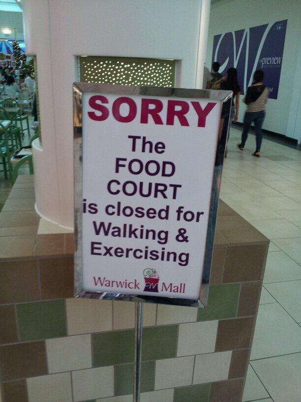 Wat?. . wait what Food court