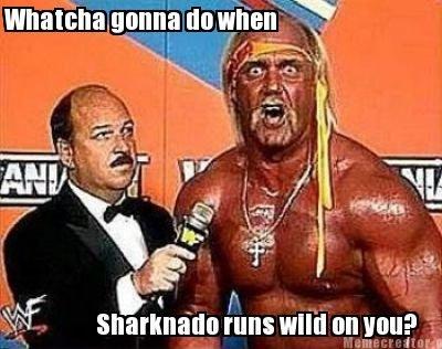 Watcha gonna do. Watcha gonna do when sharknado runs wild on you?. aittir. -.r. t hall hulk hogan sharknado