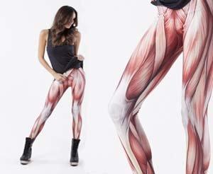 Way cooler than PJ's. Exposed muscle leggings.. Ultimate camel toe. legs