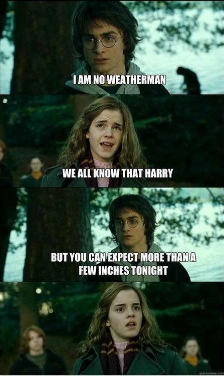 Weatherman Harry Potter. Get some precipitation on her pasture of petunias... mmm..... Ill! M M tkf WE MI KNOW TIBBIT tll BOT mu ' m' KT MORE bang emma watson