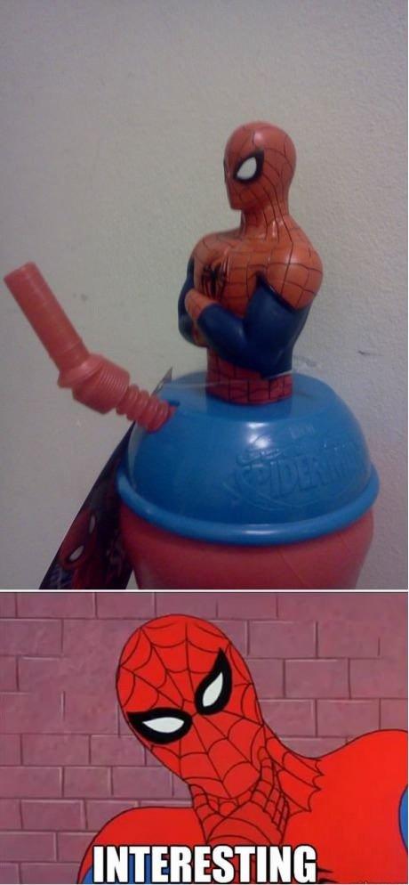 Well, it aint't gonna suck itself.... . INTERESTING Spiderman
