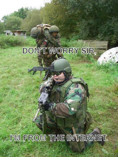 "We're saved!. . RAR Milt I, viii,"" internet funny weird Army"