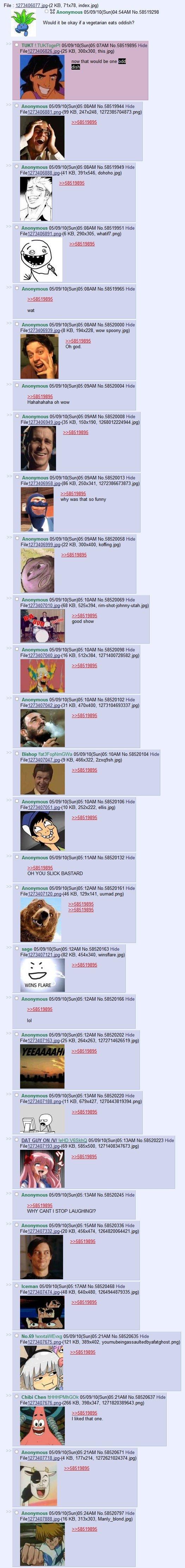 what a odd dish. 4chan thread <br /> <:. 513 1273406077 ', , ) y ES Anonymous / ) 04 No 58519298 Would tbe okay eats oddish? 1: 1 mm I No 53519395  DASU lawl