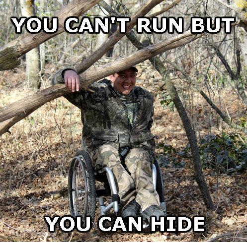 Wheelchair Camo. GET IT. OC, byootcheshes... Oh yeah? rawr