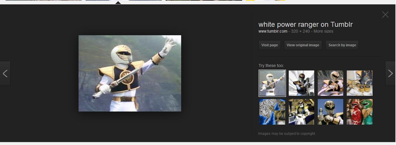 WHITE POWER!! ranger. . white power ranger on Tumblr. so funny, hahaha, front page material, great job white power Ranger power ranger