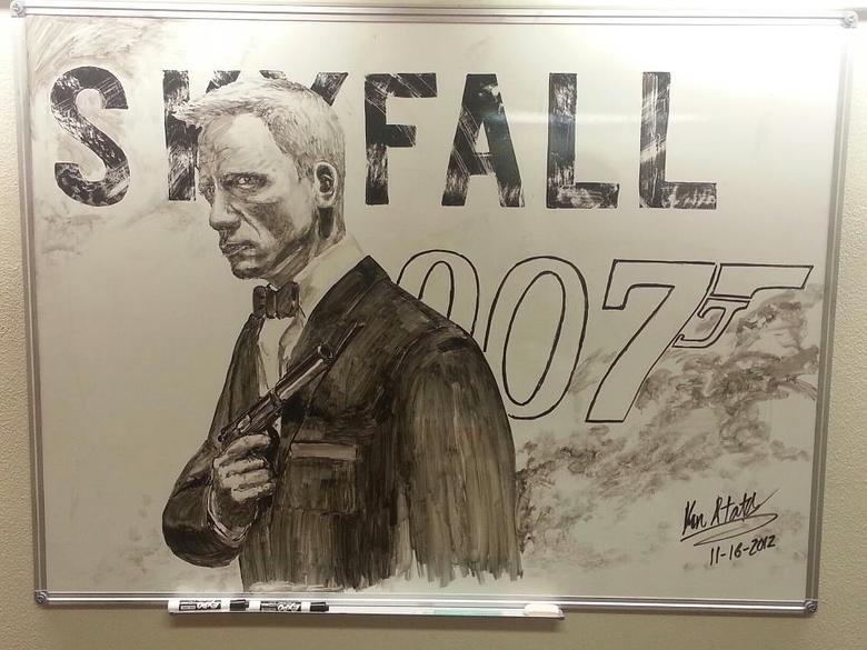 whiteboard art. this some cool , not mine though.. I wish I had artistic talent. daniel craig is a Nazi