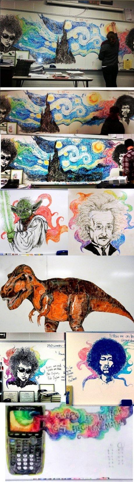 Whiteboard art. .. Read it as Whitebeard art at first. art is art