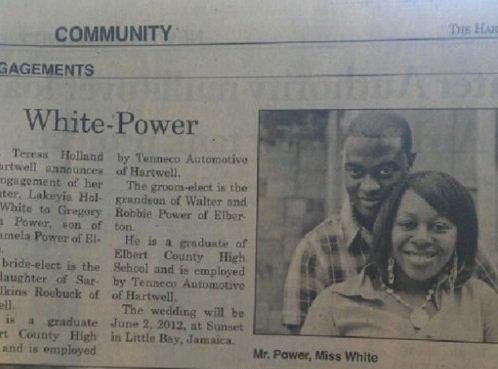 White-Power. . joke in title