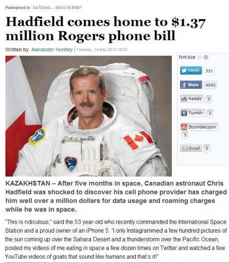 "Who else but Hadfield?. . Hadfield - home to . 37 million Rogers phone bill written he Huntley l .u' ''""o.. P''' Footsie: Cl E 'tumblr 2 when s KAZAKHSTAN - Aft Who else but Hadfield? Hadfield - home to 37 million Rogers phone bill written he Huntley l u' ''""o P''' Footsie: Cl E 'tumblr 2 when s KAZAKHSTAN Aft"
