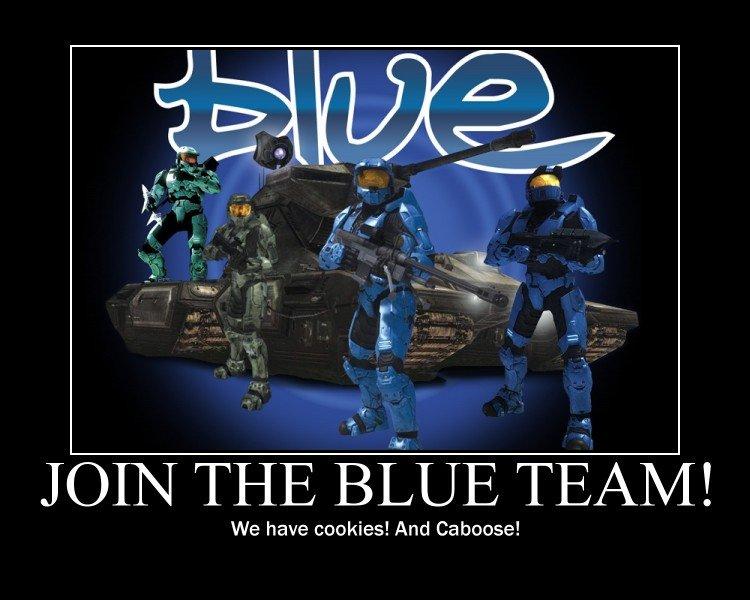 Why Join Blue Team?. blue team is best team. Red vs Blue blue team Church tucker Caboose tex sheila