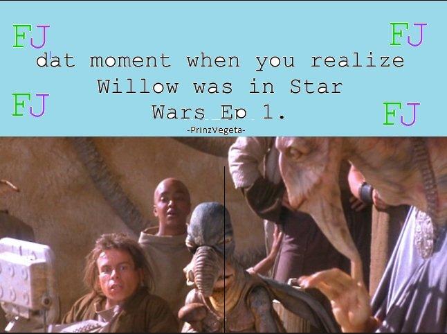 Willow? Y u in star wars?!. .. cuz you sir are a baws! Willow? Y u in star wars?! cuz you sir are a baws!